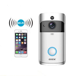 caméra de vision nocturne en temps réel Promotion EKEN Sonnette Vidéo 720P HD Sans Fil Sonnette Intelligente En Temps Réel WiFi Vision Nocturne App Control Caméra de Sécurité