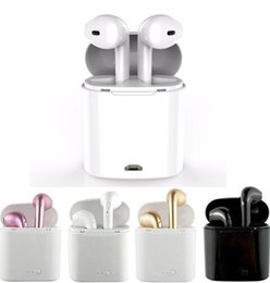 Wholesale Branded Bluetooth - I7 I7S TWS Twins Bluetooth Earbuds Mini Wireless Earphones Headset with Mic Stereo V4.2 Headphone for Iphone Android with retail Package