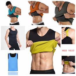 Wholesale tummy shaper vest - Men Body Shaper Vest Gym Neoprene Sauna Ultra Thin Slimming Corset Sweat Shirt Body Shaper Slim Tummy Belly AAA98
