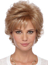 Argentina Peluca sintética del pelo de las mujeres rizado elegante todo el fósforo accesorio de moda de la peluca de la moda Micro Roll pelo corto fibra química de alta calidad Suministro