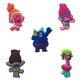 2019 rueda alada Trolls Figura de Dibujos Animados Creativa PVC 1.3 cm Imanes de Nevera Magnética Preciosa Whiteboard Sticker Kid Favor Party Gift Fashion Decoraciones Para El Hogar
