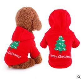 2019 manteaux d'hiver pour petits chiens Chien Costumes De Noël Pet Dog Hoodies Vêtements Automne Hiver Chien Xmas Festival Vêtements Manteau Pour Petits Chiens Vêtements Chihuahua Puppy Outfits promotion manteaux d'hiver pour petits chiens