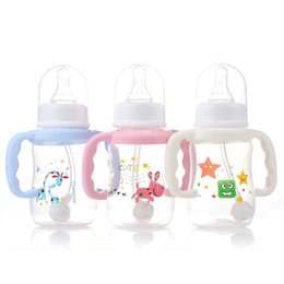 Wholesale Medicine Baby - 150ml Newborn Baby Infant Nursing Milk Feeding Bottle Standard Mouth Silicone Nipple Pacifier Drink Fruit Juice Water Medicine