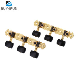 Wholesale Tuning Plate - Wholesale- AOS-020B3P 1 Pair Gold-Plated Guitar Tuners Machine Head High Quality Classical Guitar String Tuning Keys Pegs