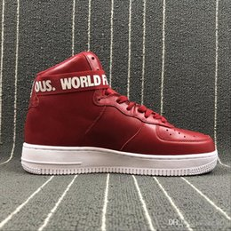 Wholesale M Catch - High 1 X SUP red men Basketball Shoes come with original shoes box Sports trainers Boots with lock catch