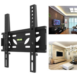 Wholesale Tv Brackets 32 - Universal TV Wall Mount Bracket Fixed Flat Panel TV Frame with Level Standard for 10-32 Inch LCD LED Monitor Flat Panel HMP_60F