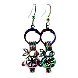 Z71 Arcobaleno colore carino Bijou coniglio gabbia perle orecchini ganci con 7mm perline di plastica regalo della ragazza da perline di plastica 7mm fornitori