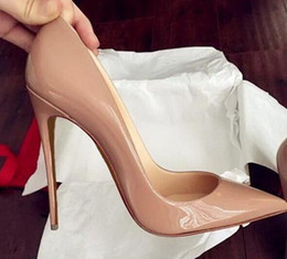 2019 sapatos de salto alto tamanho alto New extreme Red Bottom sapatos de salto alto para a mulher 12 cm partido sapatos saltos finos slip-on sapatos femininos plus size amarelo azul roxo personalizar sapatos de salto alto tamanho alto barato