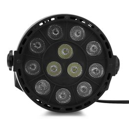 Wholesale Music Activated Led Lights - Flat LED Par RGBW DMX512 Disco Lamp stage light Voice activated For Discos Music Light Disco Bulb effetto luci discoteca