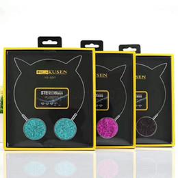 Wholesale Headphone Cute - HIFI Head-Mounted Cat Ears Stereo MP3 Over Ear Headphone Fashion Cute Music Mobile Phone Computer Earphone Video Headset