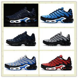 Wholesale Cheap Plus Size Shoes - Triple Black Men Kpu Tn Plus TXT Shoes Cheap Outdoors Trainers Sneakers With Boxes Size US7--11 Hot Sale