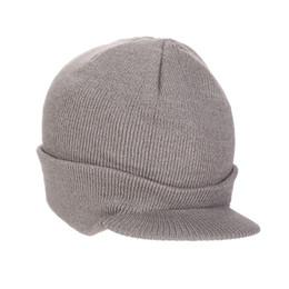 Пик колпачка онлайн-MISSKY Мужчины / Женщины шляпа сплошной цвет теплый вязаный шерстяной повседневная остроконечная вязаная шапка для осени зима