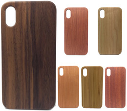 Wholesale Nature Shell - Real Wood Case For iPhone 7 6 6S Plus Cover Nature Carved Wooden Bamboo Wooden+PC Case For iPhone 5 5S 5SE Phone Shell