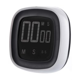 Wholesale Timer 24 Hours Digital - High Quality count up down 7.2 cm Digital Touch Screen Kitchen Practical Cooking Timer Countdown Count UP Alarm Clock Kitchen