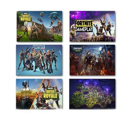 Wholesale posters games - Multi Pattern Fortnite Paintings Rectangle Printing Frameless Poster Battle Royale Game Art Wall Pictures New Arrival 5 99hz3 BB