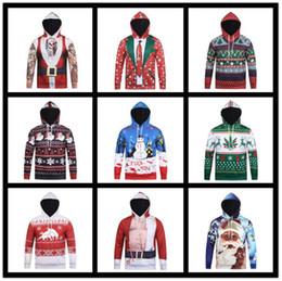 86ef166b60d9b 2019 vêtements de noel pour hommes Noël 3D Imprimer Hommes Garçon À Capuche  9 Styles Bonhomme