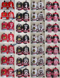 Wholesale Roenick Jersey - Throwback Chicago Blackhawks 9 Bobby Hull 21 Stan Mikita 4 Bobby Orr 7 Chris Chelios 18 Savard 27 Jeremy Roenick 35 Esposito Hockey Jerseys