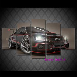 2019 aceite de lona de coche Audi Sports Car Canvas Painting Sala de estar Decoración del hogar Modern Mural Art Oil Painting # 02 aceite de lona de coche baratos