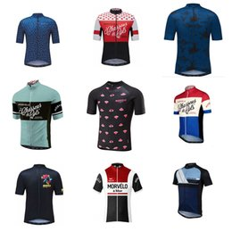 Wholesale Green Cycling Clothing - Morvelo team Cycling Short Sleeves jersey 2018 Summer Cycling Jersey short sleeve shirt bicycle clothes Clothing D314