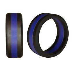 Dos ruedas online-Threelayer Silicone Ring Two Color Tire Tire Silicone Wheel Ring Alianzas de boda Anillo deportivo Accesorios Joyería Soporte FBA Envío de la gota H510F