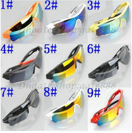 Wholesale coloured lenses - summer newest style Only SUN glasses 9 colors sunglasses men Bicycle Glass NICE sports sunglasses Dazzle colour glasses.