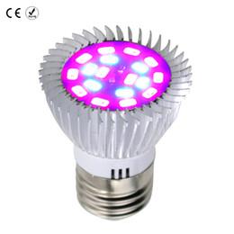 Wholesale led plant grow light spotlight - Aluminum Plant lamp E27 E14 2835SMD 18leds Full Spectrum Spotlight lights led Bulb 20W AC85-265V Greenhouse tents grow lamps