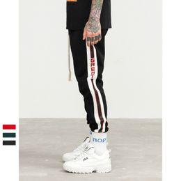 Pantalons pour hommes nouveaux pantalons de mode hip-hop décontractés pantalons de sport rue vêtements urbains populaires rétro côté collège rayures jogging tendance pantalons de survêtement ? partir de fabricateur