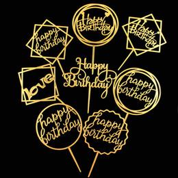 Art Cake Topper Forniture Baby Shower Acrilico Cake Topper Festival Compleanno Matrimonio Anniversario Festa di eventi Forniture per la decorazione di cottura da arte dell'anniversario di matrimonio fornitori