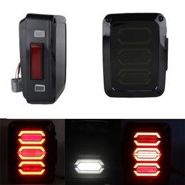 Wholesale Led Brake Light Assembly - A Pair DC 12V EU Version Car Lamps Left & Right LED Tail Light Running Turn Signal Brake Revere for 07-17 Jeep Wrangler JK
