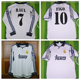 e46b5908e7 raul soccer jersey Coupons - 2000 2001 real madrid jersey retro vintage  classic 00 015 RAUL
