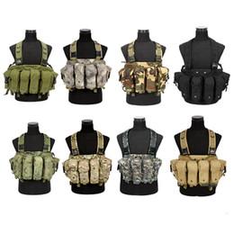 chaleco de engranajes Rebajas Chale táctico de Molle Navy Seals Chaleco de estilo Army Combat con bolsas de bolsa Assault CS Equipo de camuflaje Gear