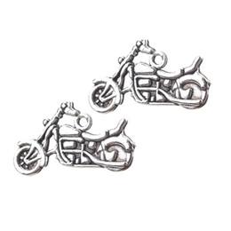 I mestieri d'epoca fanno online-10pc / lot Charms moto d'epoca Charms per gioielli Fare accessori fatti a mano Collane Pendenti Artigianato Trovare 25 * 14mm
