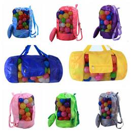 Wholesale Wholesale Netting - 16 Colors 30*58cm Kids Beach Toys Receive Bag Folding Mesh Sandboxes Away All Sand Storage Shell Net Sand Away Beach Bag CCA9514 50pcs