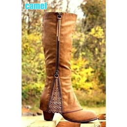 bf9287619123 2017 NEW Women s Fashion Riding Boots Fold Over Design Near The Ankle with  Lace Detailing At Edge