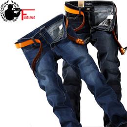 20e45e433d6c4 Plus la taille 40 42 44 46 48 hommes jean coupe droite marque stretch  pantalon en jean 2017 mode mince bleu noir jean élastique pantalon mâle