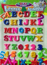 Wholesale Magnetic Alphabet Stickers - Hot 2016 Set Of 36 Colorful Teaching Magnetic Numbers Fridge Magnets Alphabet