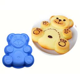 Мультяшный торт онлайн-DlY мультфильм медведь формы 3D силиконовые торт плесень выпечки инструменты