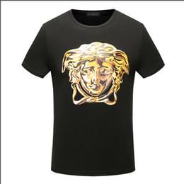 Wholesale designer casual shirts for women - fashion summer italy for men T-shirt Designer luxury Brand short sleeve gold 3d medusa head print letter t shirt Tee women Casual Top tshirt