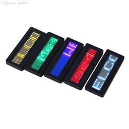 Wholesale Led Name Tags - Wholesale-LED Programmable Scrolling Name Message Badge Tag Digital Display English Newest