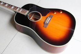 matériel métallique Promotion Guitare Vintage Vintage J160 Top Guitare Corps en épicéa massif avec micros en Sunset 20110
