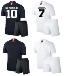 Malhas de futebol shorts neymar on-line-18 19 Kits de Futebol da Liga dos Campeões NEYMAR JR MBAPPE Calções de Futebol Jersey VERRATTI DI MARIA Calças Camisas de Futebol Conjuntos de Treinamento de Esportes de Mens