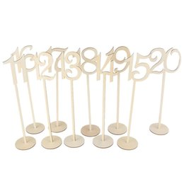 Wholesale crafts holidays - Handmade Wood Chips Seat Card Wedding Crafts Party Supplies Prop With Table Number Arts Multiple Functions Decoration 30am jj