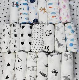 Wholesale newborn baths - 120*120CM Aden Anais Swaddles Muslin Baby Blankets Ins Bath Towels Blankets Wraps Newborn Cotton Swadding Muslin Baby Blankets KKA4210