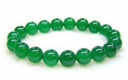 Bracelet élastique en perle d'émeraude 8 mm pour le jade vert malais ? partir de fabricateur