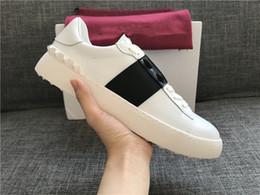 2019 sapatos casuais confortáveis para mulheres Designer de luxo Rockrunner Sapatos Casuais Sapatos de Couro Macio Mulheres Sneakers Mens Flats Sapato de Esportes de Tênis Confortável Sapatilha Diária desconto sapatos casuais confortáveis para mulheres