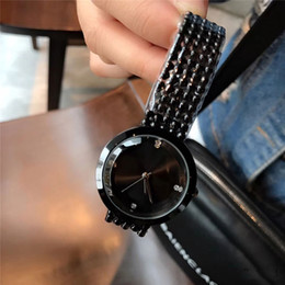 Wholesale Lady Girl Wrist Watch - Dress ladies watch luxury brand diamond 34mm dial Full Stainless Steel band fashion female quartz wrist watches for women girls best gifts