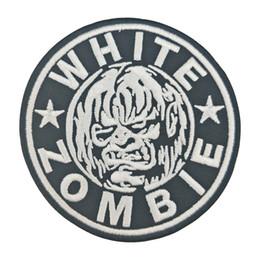 Zombie bianco ferro sulla zona ricamata per abbigliamento decorazione anteriore della giacca Parch Parch spedizione gratuita da patch zombie fornitori