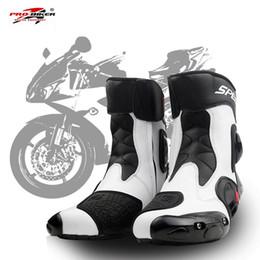 biker tragen Rabatt PRO-BIKER SPEED BIKERS Motorradstiefel Verschleißfeste Mikrofaser Leder Racing Chopper Cruiser Touring Ankle Schuhe