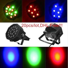 Wholesale Rgb Led Dmx - 54W Led Par Lights RGB Stage Lighting DMX512 Led Lights For Party KTV Disco DJ Lighting AC 85-265V