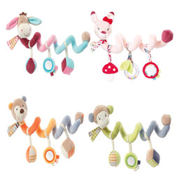 Wholesale Infant Lathe Hanging Toys - Infant Animals Toys Baby Crib Revolves Around The Bed Stroller Playing Toy Crib Lathe Hanging Baby Rattles Mobile For Children